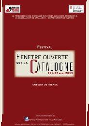 Festival Fenêtre Ouverte sur la Catalogne - Premsa - Generalitat de ...
