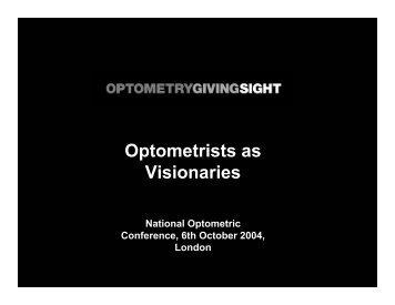 Gemma Genovese's presentation - Optometrists as Visionaries