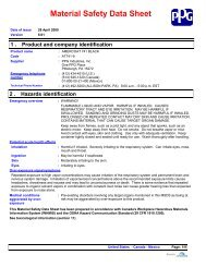 Material Safety Data Sheet - AltaPaints and Coatings