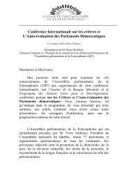 Conférence Internationale sur les critères et L'Auto-évaluation des ...