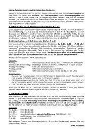 Informationen für die Stufe 11