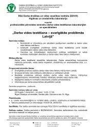 Semināra programma - Valsts Darba Inspekcija