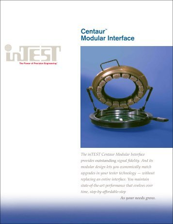 Centaur™ Modular Interface - InTest Corporation