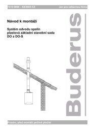 Návod k montáži - Buderus