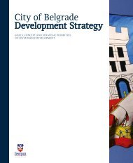 City of Belgrade Development Strategy - PALGO centar