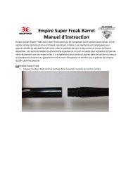 Empire Super Freak Barrel Manuel d'instruction - Paintball Solutions