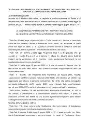 Accordo tra Stato, regioni e province autonome di Trento ... - Sicurweb