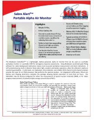 Sabre Alert²™ Portable Alpha Air Monitor