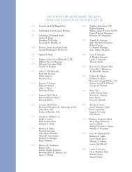 recipients of honorary degrees from the college of - College of New ...
