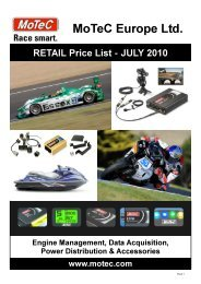 MoTeC Europe JULY 2010 RETAIL Price List ... - Ascania Racing