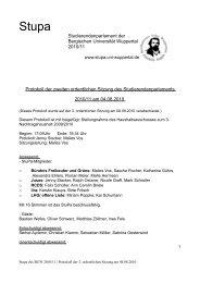 Protokoll der 2. ordentlichen Sitzung 10/11 - StuPa der BU ...
