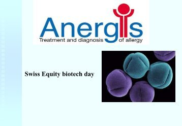 Anergis VCs - NZZ Equity Biotech Day