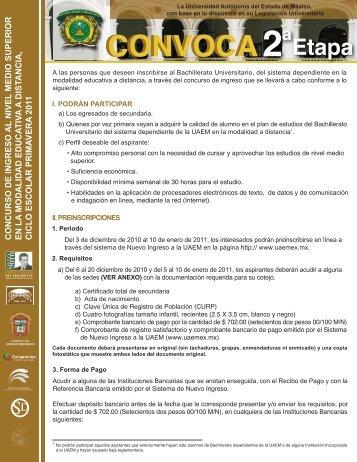 convocatoria ED 2a etapa - Gobierno del Estado de México
