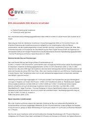 BVK-Jahresstatistik 2006: Branche ist zufrieden