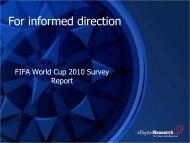FIFA World Cup 2010 Survey Report - eDigitalResearch