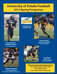 2013 Toledo Spring Football Prospectus - University of Toledo ...