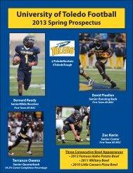 2013 Toledo Spring Football Prospectus - University of Toledo ...