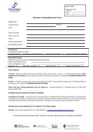 Volunteer Training Registration Form - NCOSS
