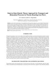 State-to-State Kinetic Theory Approach for Transport and Relaxation ...