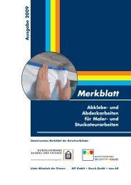 Merkblatt Abklebe- und Abdeckarbeiten für Maler