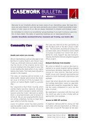 Casework bulletin 2012 No 1 - Law Centre NI