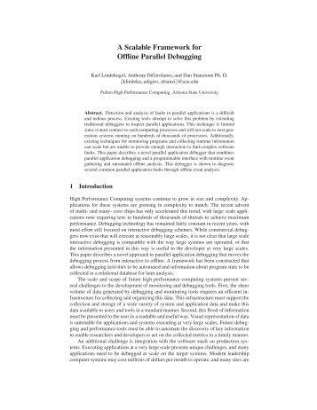 A Scalable Framework for Offline Parallel Debugging