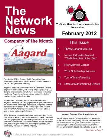 February 2012 - TSMA - Tri-State Manufacturers' Association