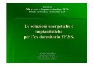 Le soluzioni energetiche e impiantistiche per l'ex ... - Centro CISA