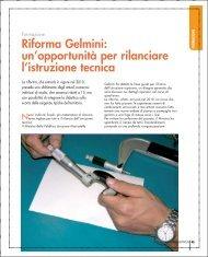 Riforma Gelmini: un'opportunità per rilanciare l'istruzione tecnica