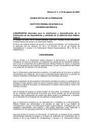 LINEAMIENTOS Generales para la clasificación y ... - Issfam