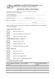 exemption application form - Chartered Tax Institute of Malaysia