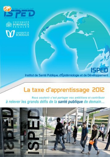 La taxe d'apprentissage 2012 - Isped - Université Bordeaux Segalen