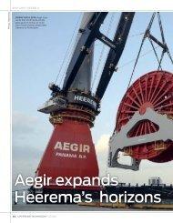 Aegir expands Heerema's horizons - Heerema Marine Contractors