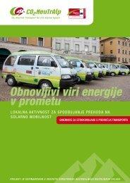Obnovljivi viri energije v prometu - Razvojni center Srca Slovenije