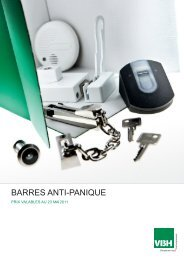 BARRES ANTI-PANIQUE - VBH - Hody