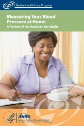 Measuring Your Blood Pressure at Home - AHRQ Effective Health ...