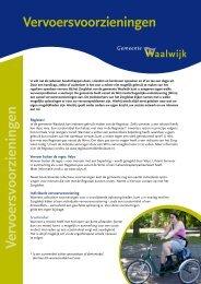 folder Vervoersvoorzieningen - Gemeente Waalwijk