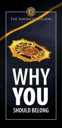 Why You Should Belong - The American Legion