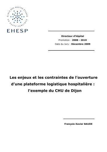 l'exemple du CHU de Dijon. - Banque de données en santé publique