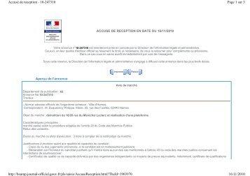 Page 1 sur 3 Accusé de reception - 10-247310 16/11/2010 http ...