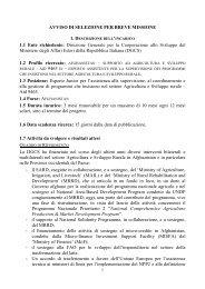 Avviso completo - Cooperazione Italiana allo Sviluppo - Ministero ...