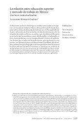 La relación entre la universidad y mercado de trabajo en México ...
