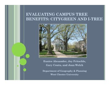 citygreen and i-tree - West Chester University
