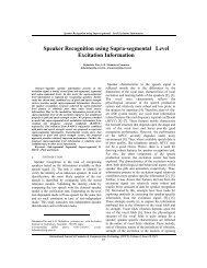 Speaker Recognition using Supra-segmental Level Excitation ...