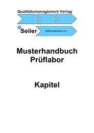 Musterhandbuch Prüflabor