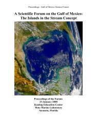 A Scientific Forum on the Gulf of Mexico: - National Marine ...