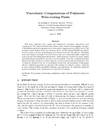 Viscoelastic Computations of Polymeric Wire-coating Flows