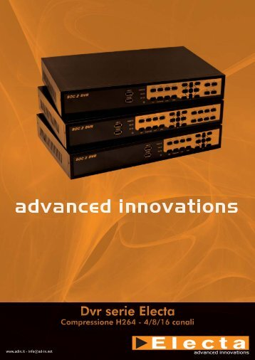 brochure 4pag dvr electa serie d - Advanced Innovations