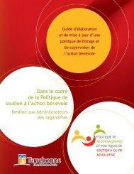 Politique de filtrage et de supervision de l'action bénévole - Ville de ...