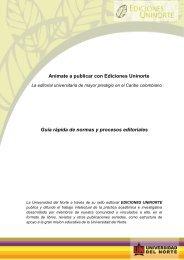 Anímate a publicar con Ediciones Uninorte - Universidad del Norte